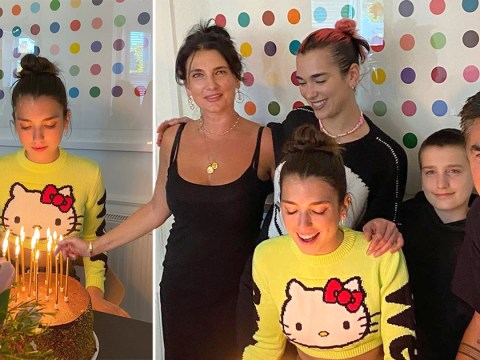 Dua Lipa meets up with family in lockdown to celebrate sister's 19th birthday