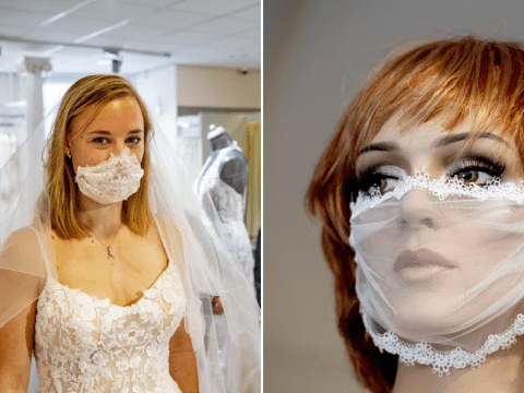 Bridal shop creates lace face masks for weddings – but they probably aren't very effective