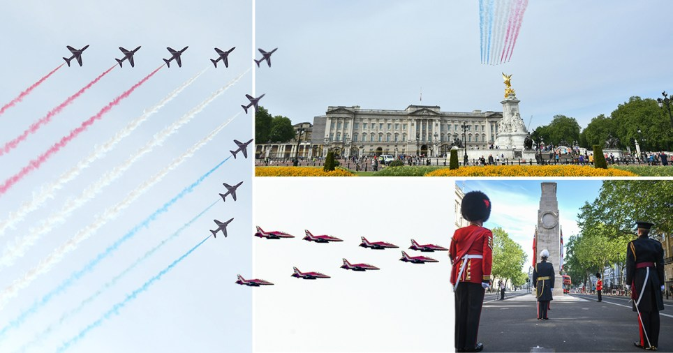 VE Day 2020: Red Arrows flypast and minute's silence on 75 ...