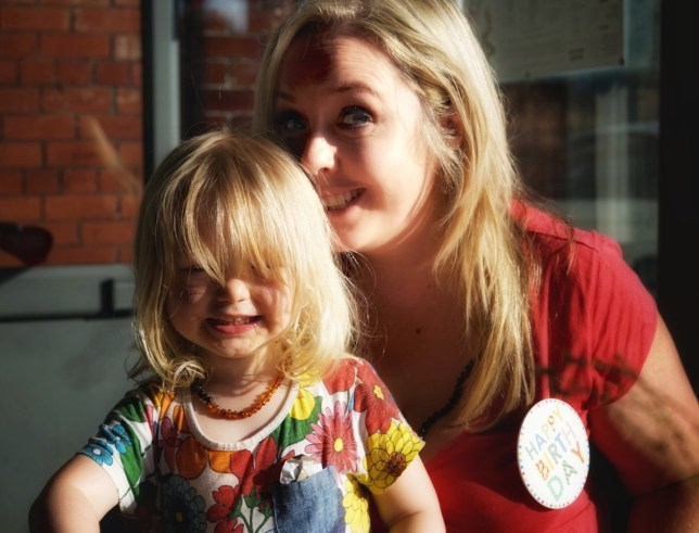 Jade Wright with her daughter