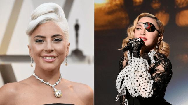 Lady Gaga Madonna Oscars