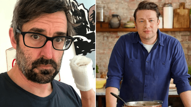 Louis Theroux and Jamie Oliver