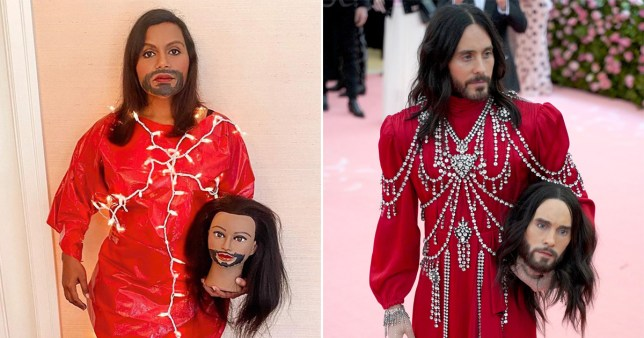 Mindy Kaling has recreated Jared Leto's Met Gala outfit