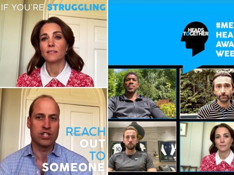 William and Kate urge people struggling with mental health to 'reach out'