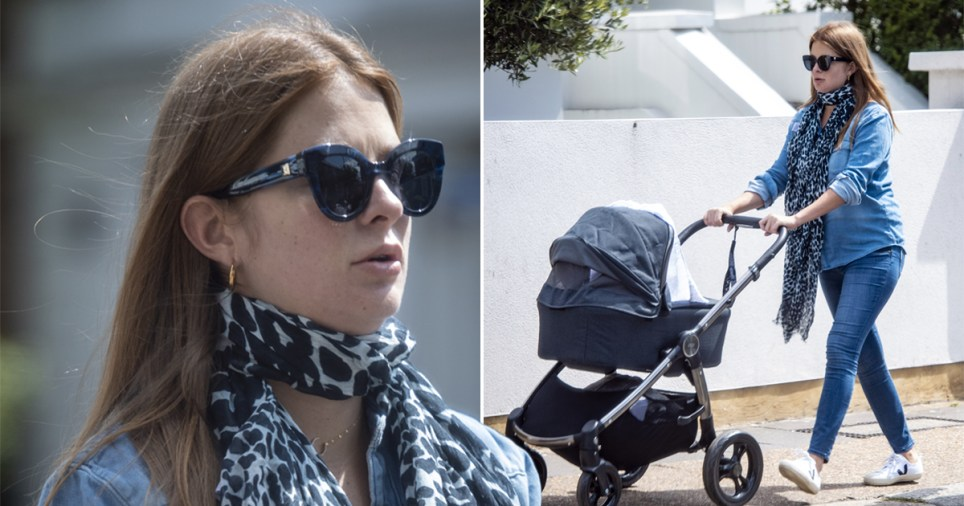 Millie Mackintosh out for a walk with newborn daughter in London