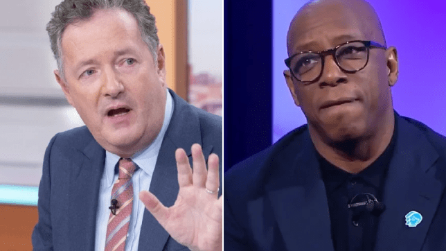 Piers Morgan supports Ian Wright