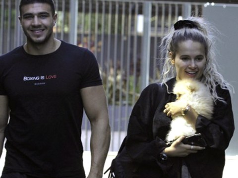 Molly-Mae Hague looks overjoyed at the cuteness of her new puppy gifted by boyfriend Tommy Fury