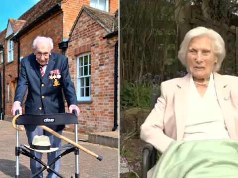 Colonel Tom Moore has competition as 99-year-old Marjorie Lamb vows to 'get one up on the men' as she walks for NHS