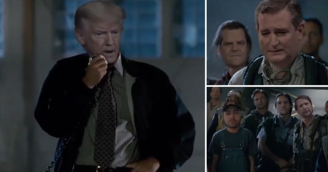 The speech in Independence Day was doctored to show Donald Trump