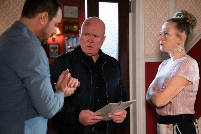 Linda, Mick and Phil in EastEnders