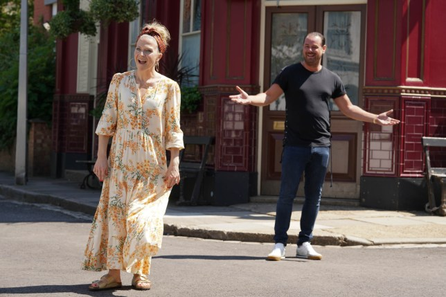 Kellie Bright and Danny Dyer in EastEnders