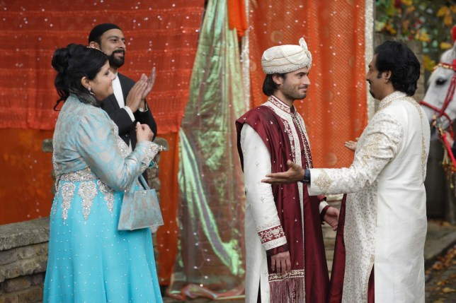 Syed, Masood and Zainab in EastEnders
