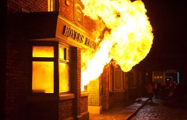 Coronation Street fire