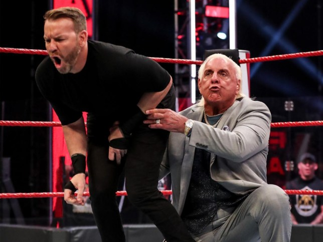 WWE legend Ric Flair attacks Christian on Monday Night Raw in June 2020