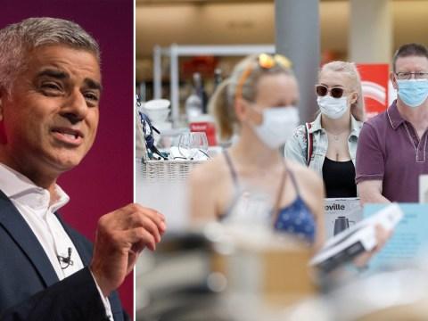 Sadiq Khan calls for face masks to be mandatory in shops