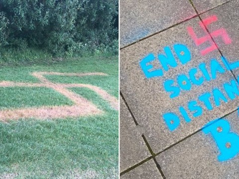 Racist 'used weedkiller' to etch Nazi symbol into grass