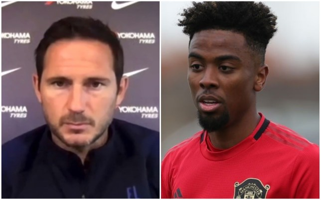 Frank Lampard distanced Chelsea from a move for Manchester United's Angel Gomes