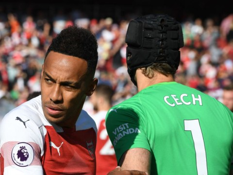 Petr Cech approved Chelsea's move for Arsenal star Pierre-Emerick Aubameyang