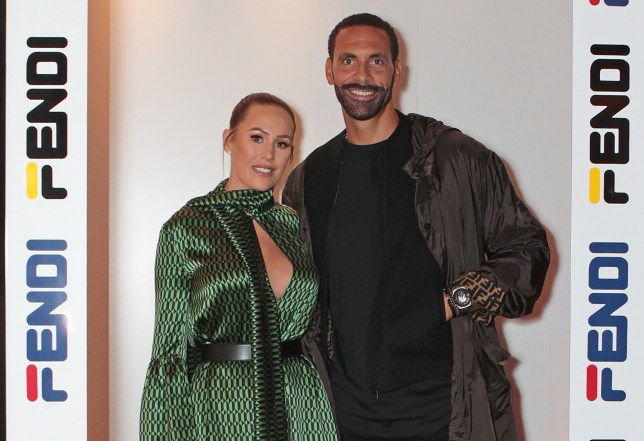 Kate and Rio Ferdinand.