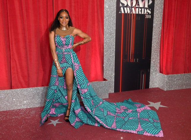 Rachel Adedeji at the The British Soap Awards in 2019