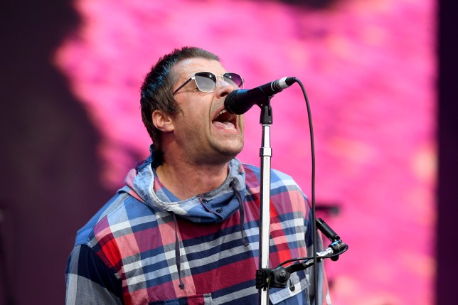 Liam Gallagher performing at Glastonbury Festival 2019