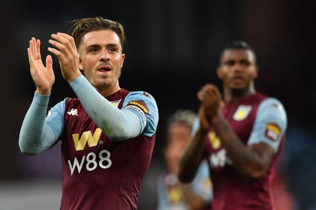 Manchester United transfer target Jack Grealish after Aston Villa's Premier League clash with Everton