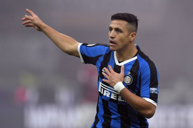 Manchester United loanee Alexis Sanchez of FC Internazionale reacts during a match