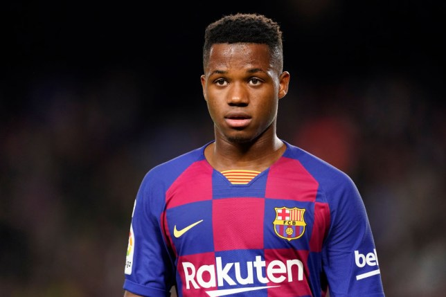 Barcelona winger Ansu Fati is wanted by Manchester United
