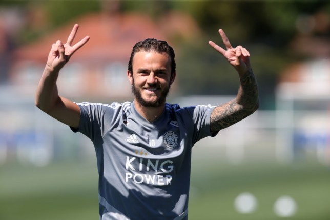 James Maddison in Leicester City Training Session