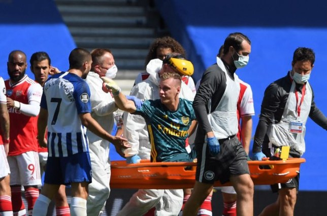 Bernd Leno was furious with Neal Maupay after he suffered a serious injury following a challenge from the Brighton forward