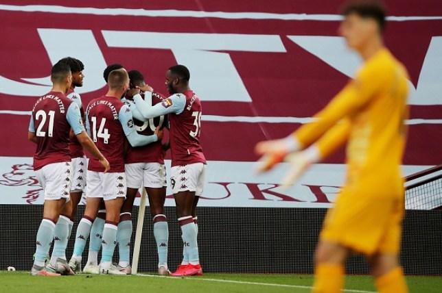 Kortney Hause put Aston Villa in front against Chelsea on Sunday