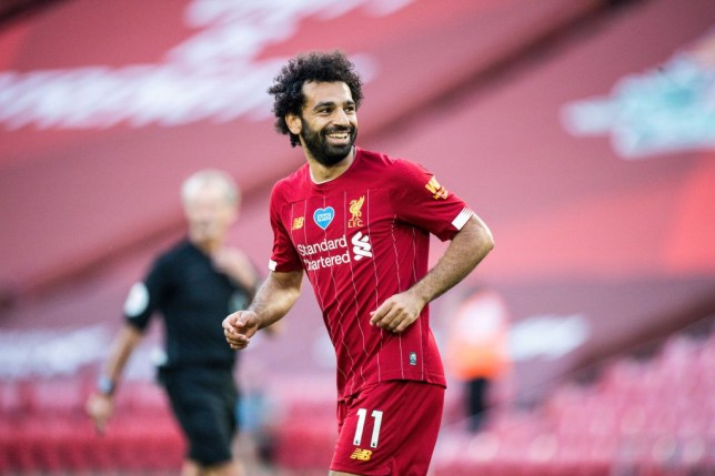 Mohamed Salah in action for Liverpool FC v Crystal Palace - Premier League