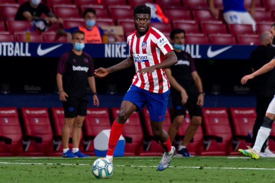 Thomas Partey has a €50 million release clause in his contract with Atletico Madrid