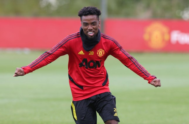 Angel Gomes in Manchester United Training Session