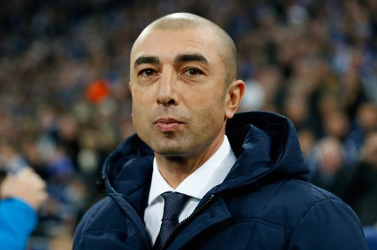 Di Matteo watches during Chelsea Champions League clash