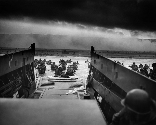 US Troops on D-Day in World War Two.