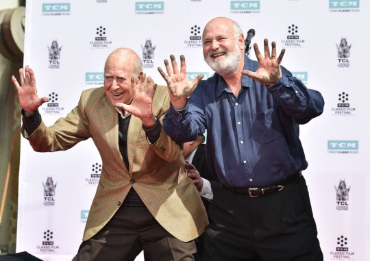 2017 TCM Classic Film Festival - Carl Reiner And Rob Reiner Hand And Footprint Ceremony