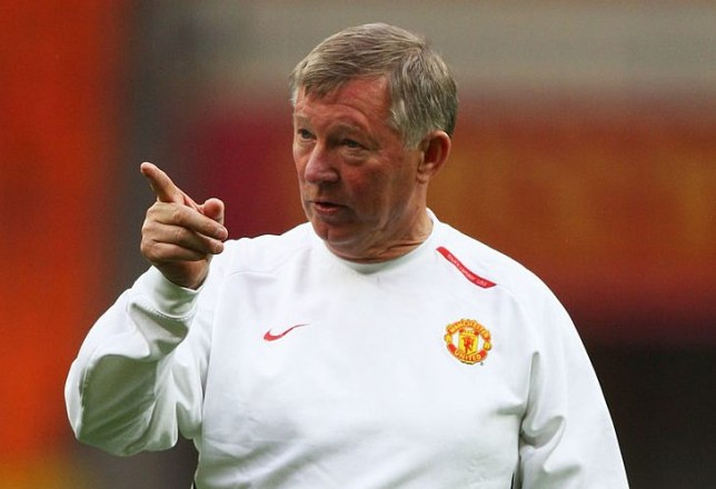 Sir Alex Ferguson broke up a row in Manchester United's training session before their Champions League final against Chelsea