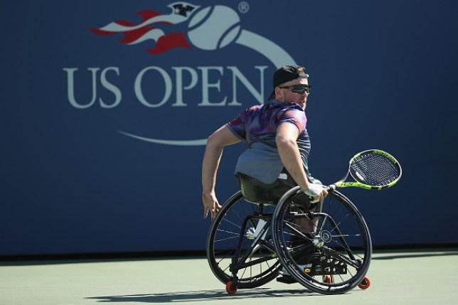 2017 US Open Tennis Championships - Day 13 Dylan Alcott plays wheelchair tennis