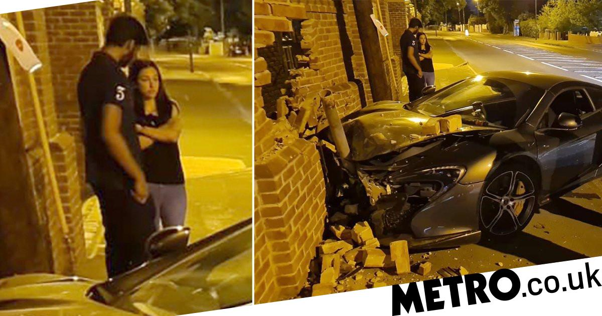 Police mock driver who 'somehow' smashed McLaren on straight road - metro