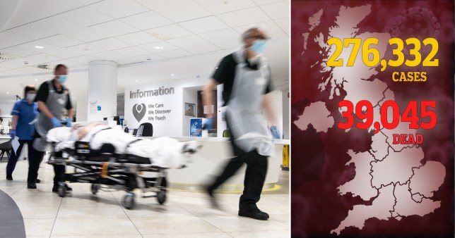 Around 57% of England's NHS trusts saw no Covid-19 fatalities over the weekend (Picture: Getty / PA)