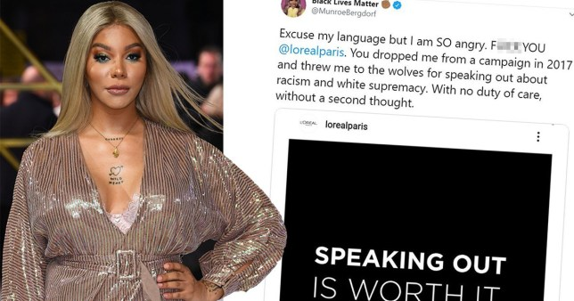 Trans model Munroe Bergdorf sacked form L'Oreal slates them for racism tweet