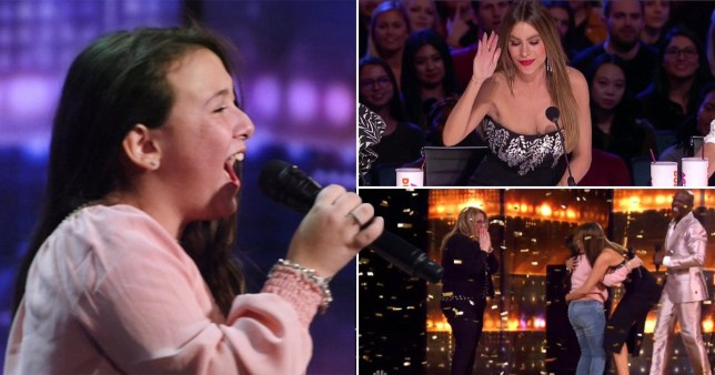 America's Got Talent judge Sofia Vergara presses Golden Buzzer for 10-year-old singer Roberta Battaglia