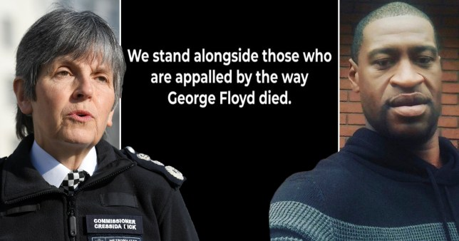 UK police chiefs 'appalled' by death of George Floyd and call for 'justice'