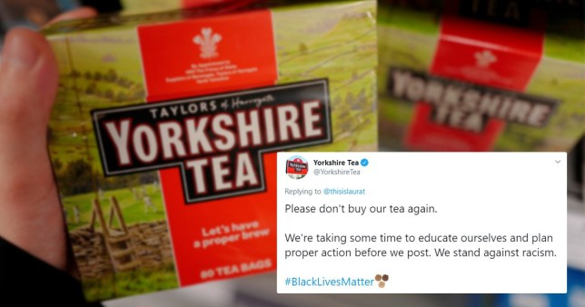 Yorkshire Tea responds to racist tweet telling customer 'please don't buy our tea again'