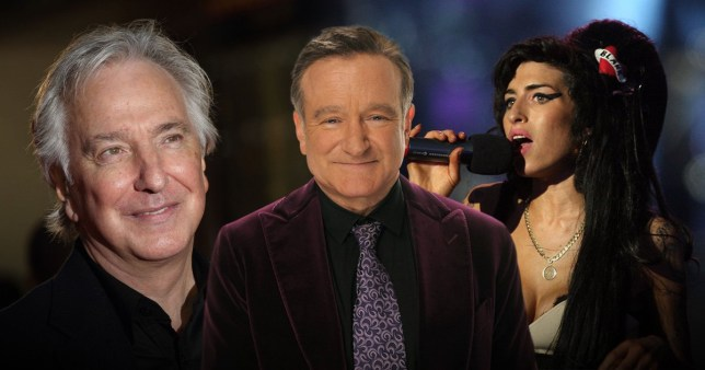 Alan Rickman, Robin Williams and Amy Winehouse