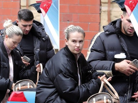 Molly-Mae Hague and Tommy Fury keep a low profile as they head out following death of puppy Mr Chai