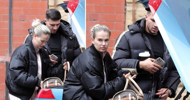 Love Island stars Tommy Fury And Molly Mae Hague seen unloading boot of their car near their home