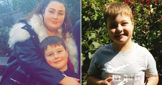Mum Tawney Willis with nine-year-old son Frankie Macritchie, who was killed by an American bulldog Staffordshire cross in April last year at Tencreek Holiday Park in Looe, Cornwall.