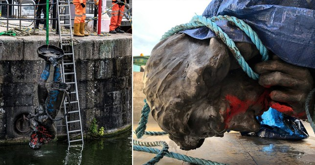 Statue of slave trader Edward Colston was pulled out of Bristol harbour on Thursday morning.